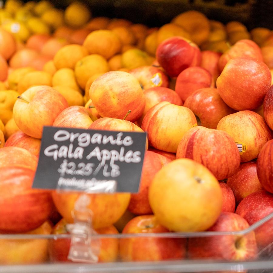 Organic Apples SLC Utah Good Earth Square
